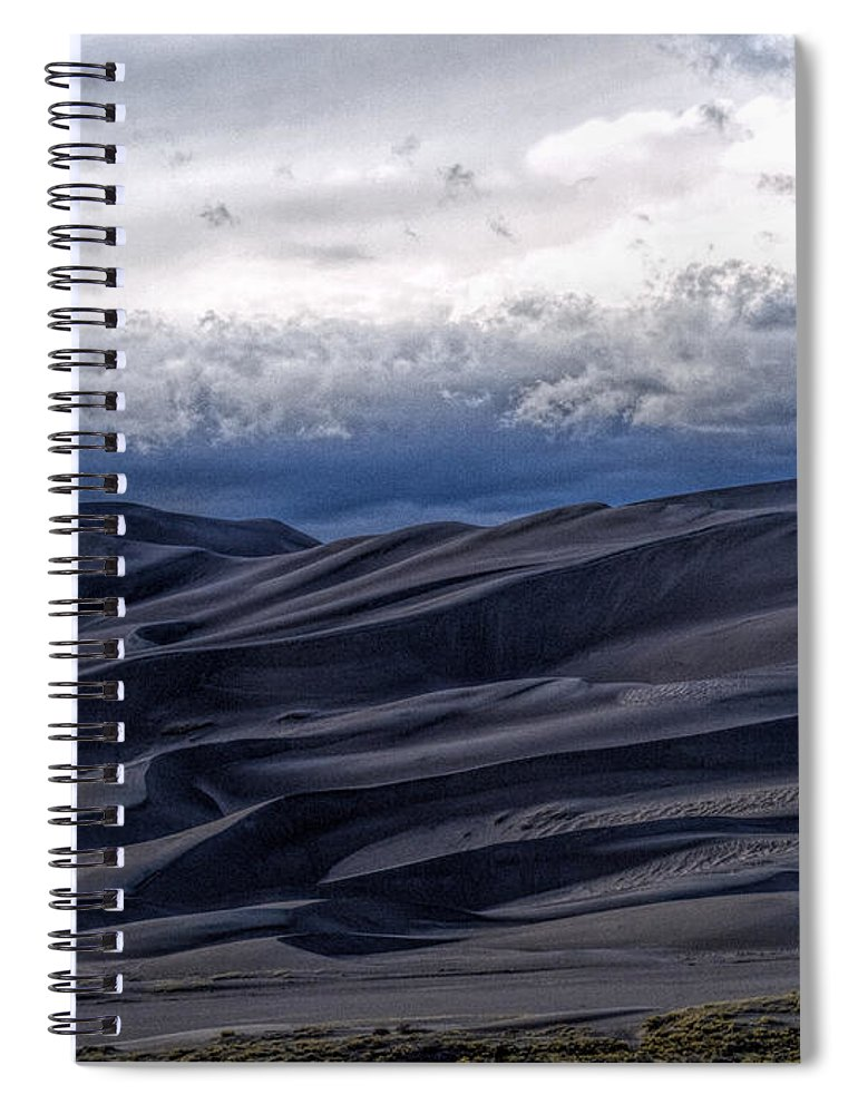 Great Sand Dunes National Park Spiral Notebook featuring the photograph Velvet at Night by Alana Thrower