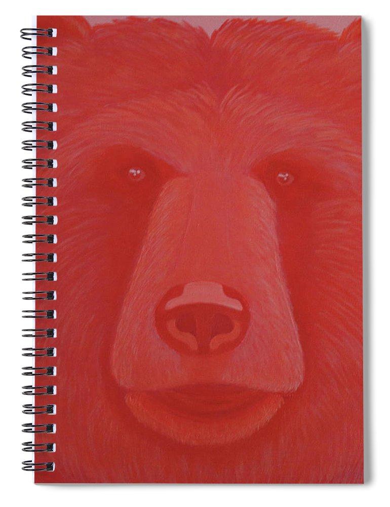 Vermillion Bear Spiral Notebook