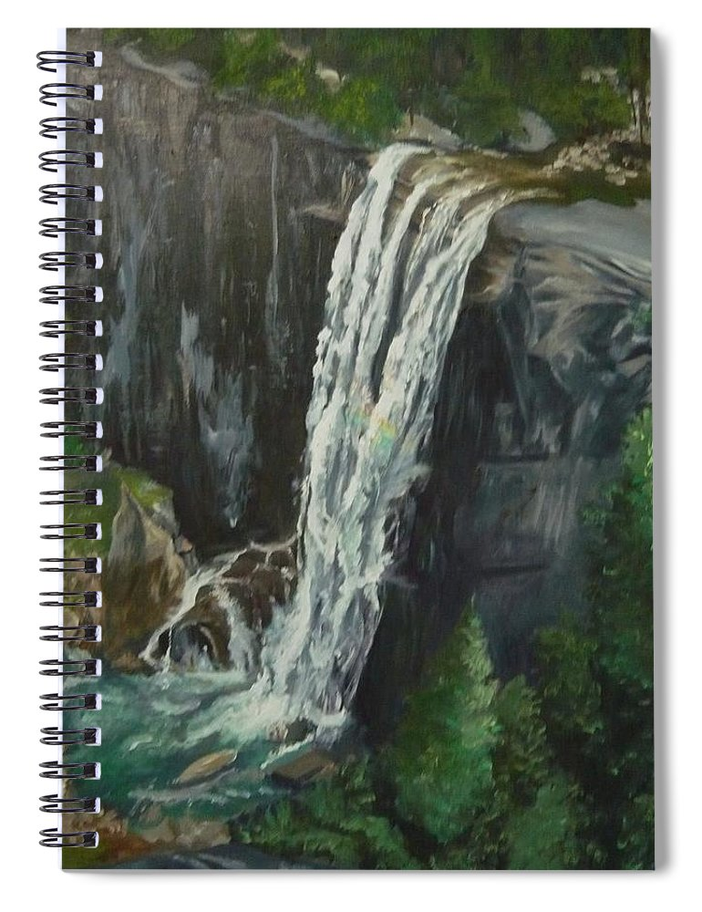 Vernal Falls Spiral Notebook featuring the painting Vernal by Travis Day