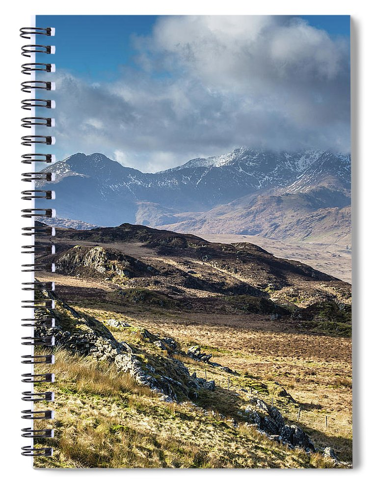Moel Siabod Spiral Notebook featuring the photograph View from Moel Siabod, Snowdonia, North Wales by Anthony Lawlor