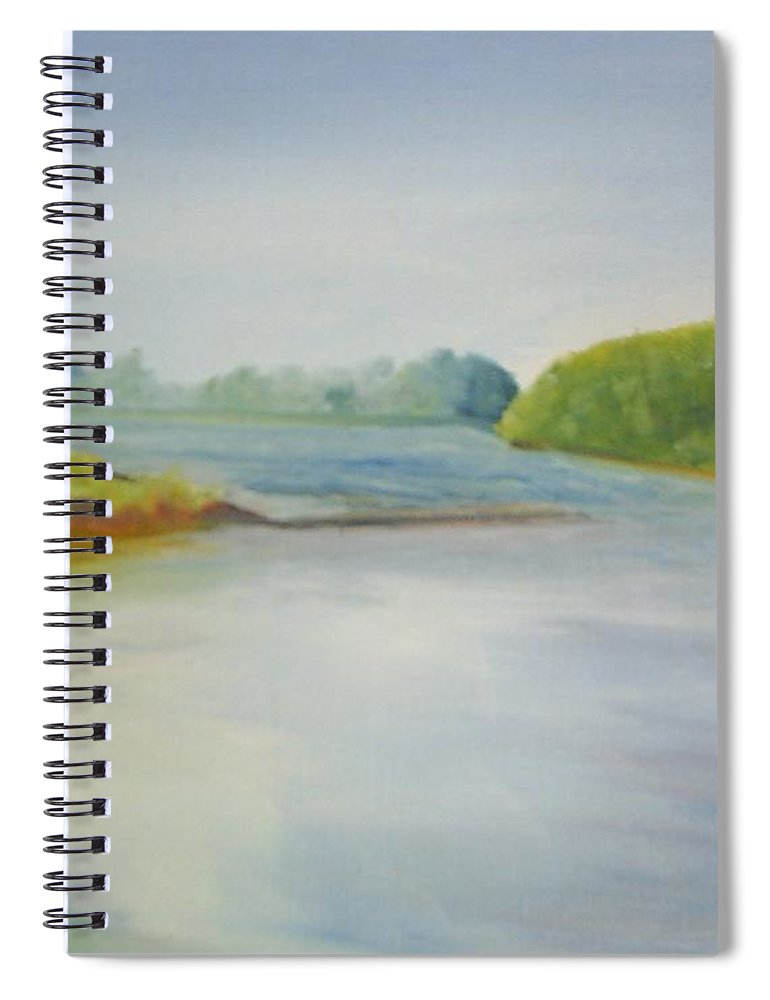Delaware River Spiral Notebook featuring the painting View of the Delaware by Sheila Mashaw