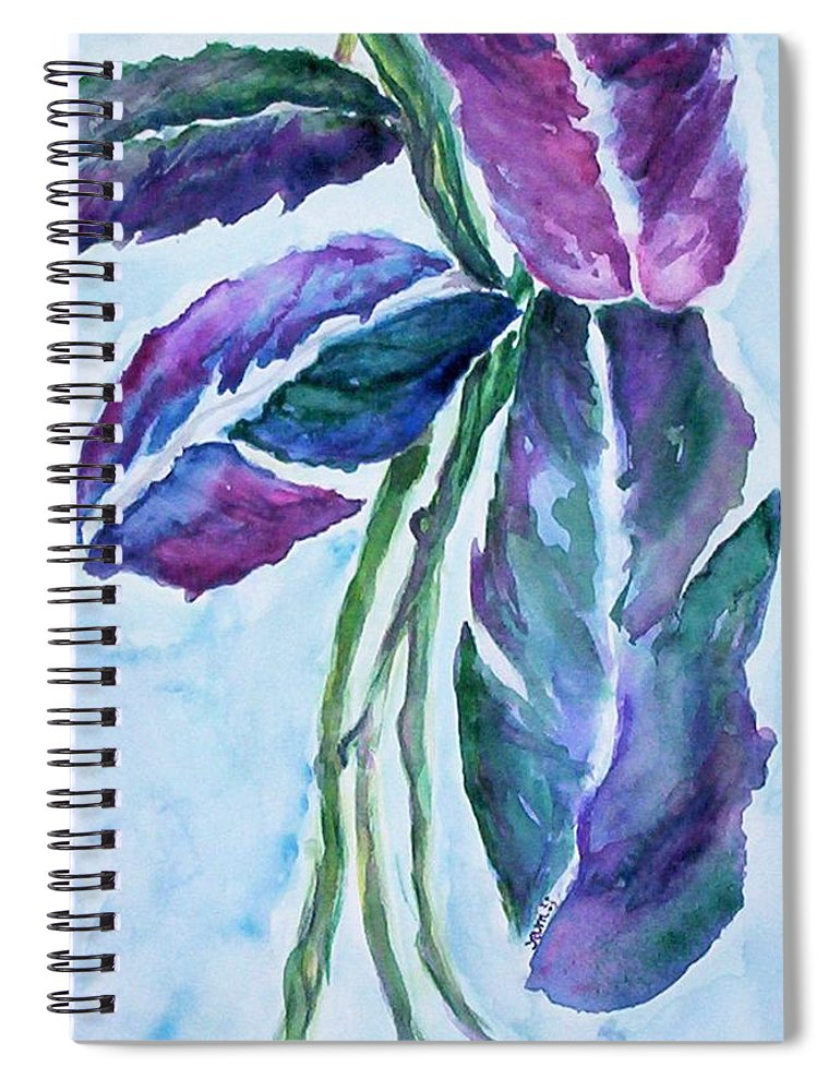 Landscape Spiral Notebook featuring the painting Vine by Suzanne Udell Levinger