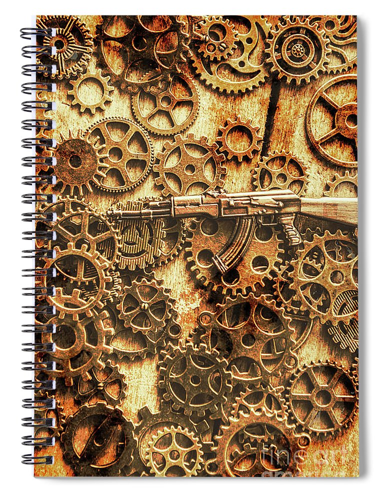Ak-47 Spiral Notebook featuring the photograph Vintage Ak-47 Artwork by Jorgo Photography - Wall Art Gallery