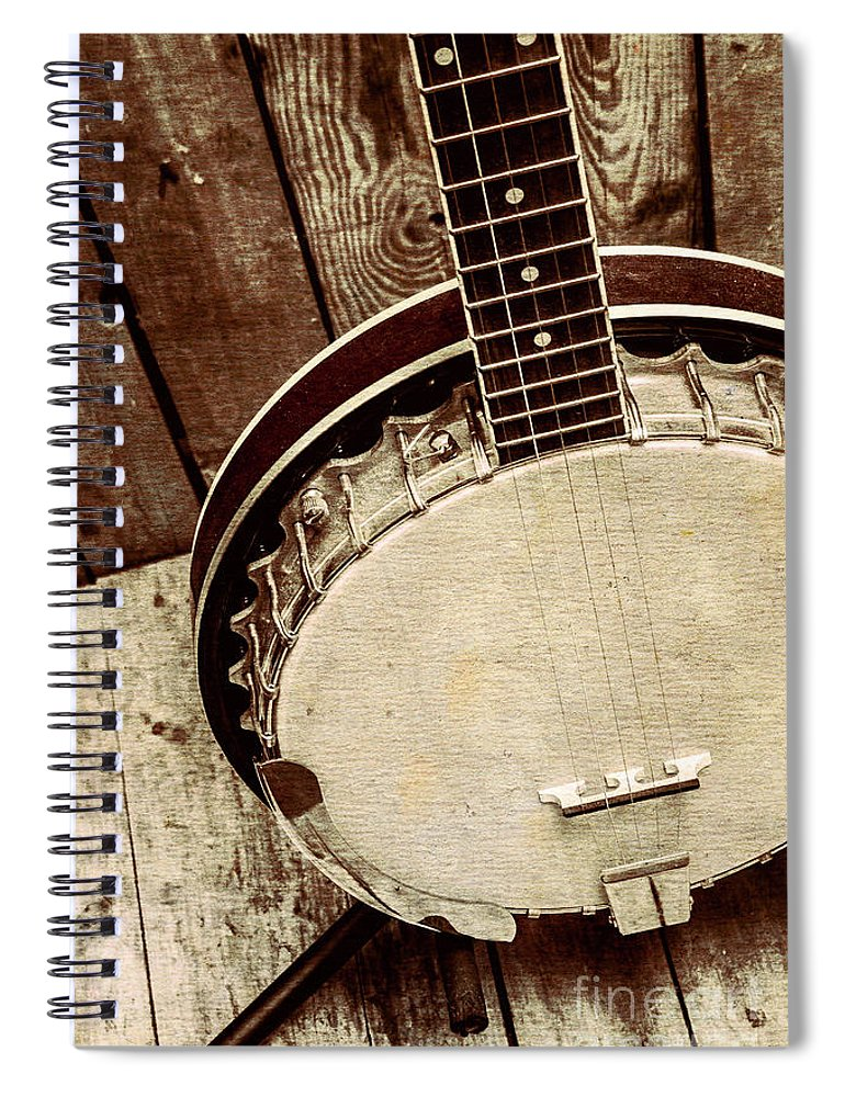 String Spiral Notebook featuring the photograph Vintage Banjo Barn Dance by Jorgo Photography - Wall Art Gallery