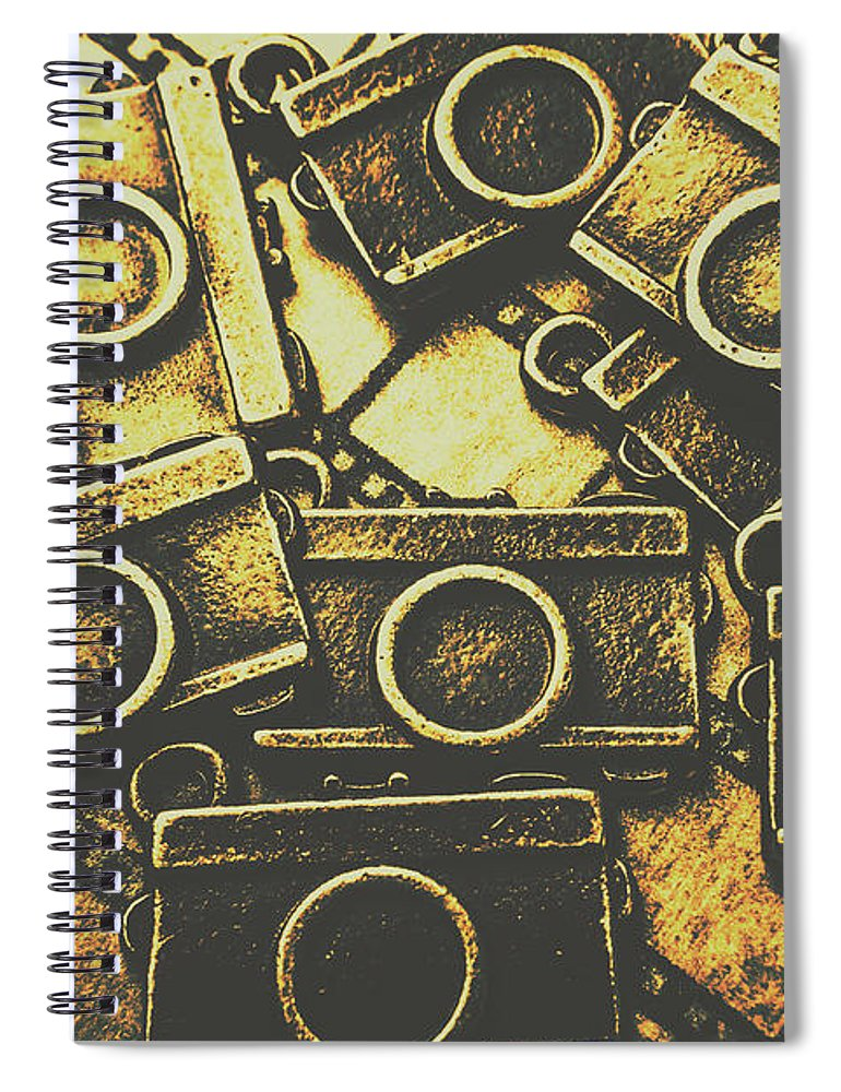 Photography Spiral Notebook featuring the photograph Vintage Film Camera Scene by Jorgo Photography - Wall Art Gallery