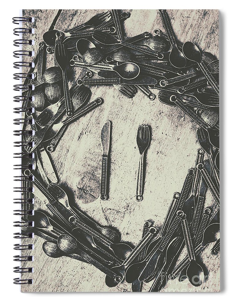 Old Spiral Notebook featuring the photograph Vintage Food Service by Jorgo Photography - Wall Art Gallery