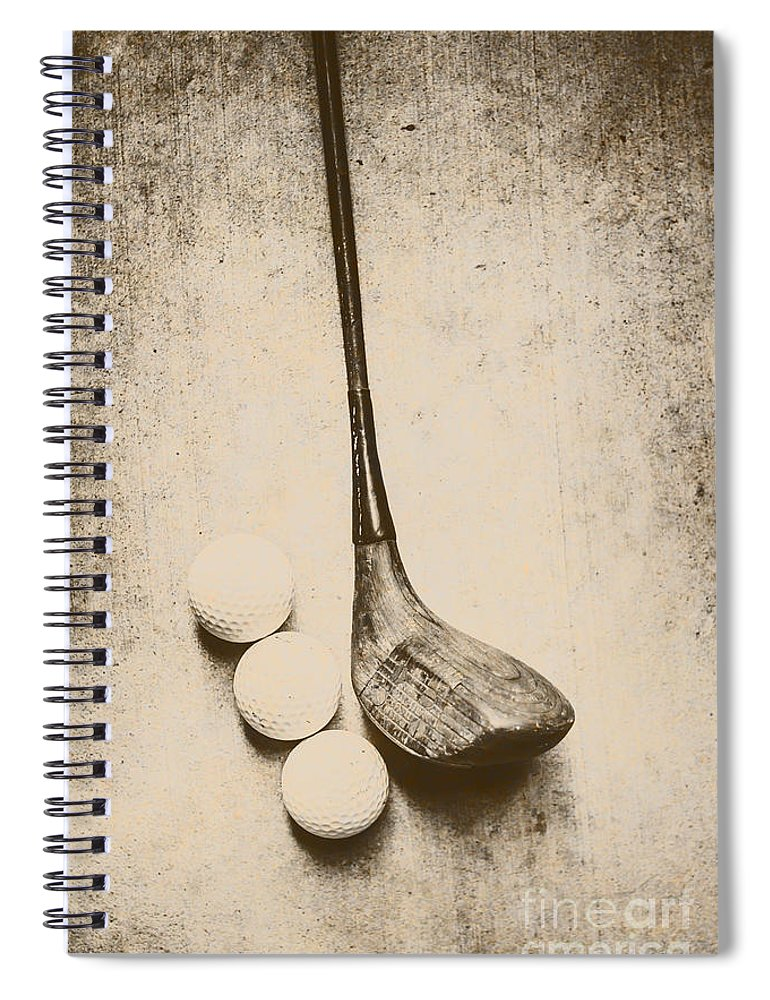 Vintage Spiral Notebook featuring the photograph Vintage Golf Artwork by Jorgo Photography - Wall Art Gallery