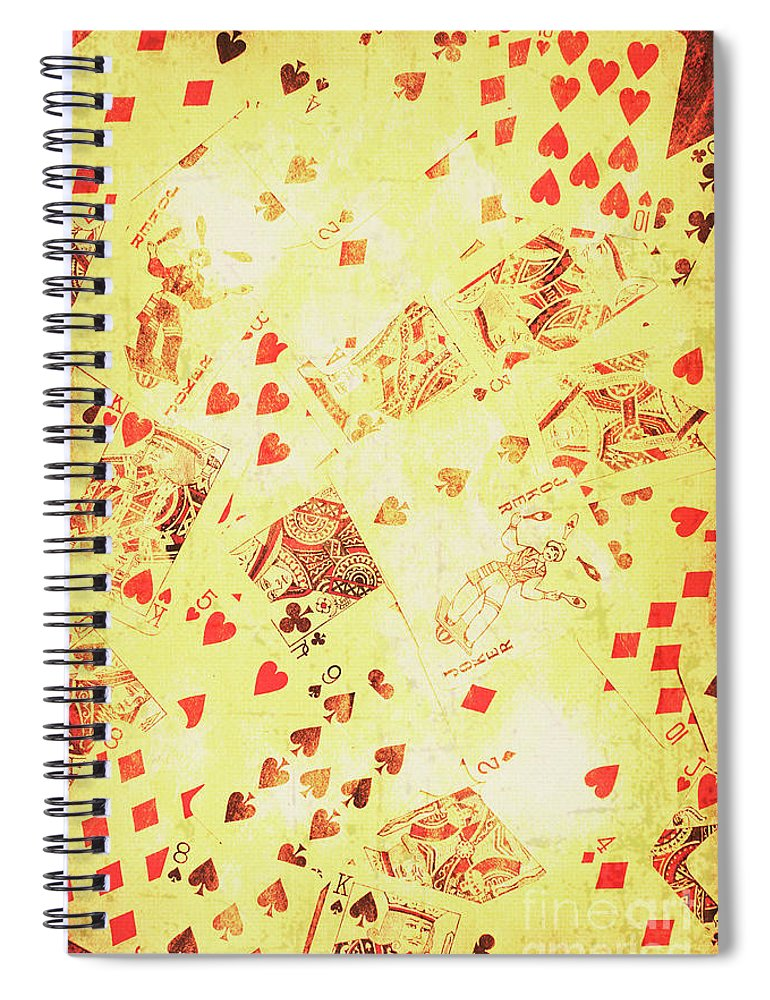 Wild West Spiral Notebook featuring the photograph Vintage Poker Background by Jorgo Photography - Wall Art Gallery