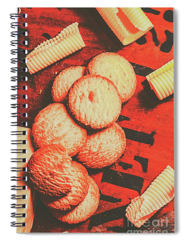 Vintage Spiral Notebook featuring the photograph Vintage Rich Butter Shortcake Cookies by Jorgo Photography - Wall Art Gallery
