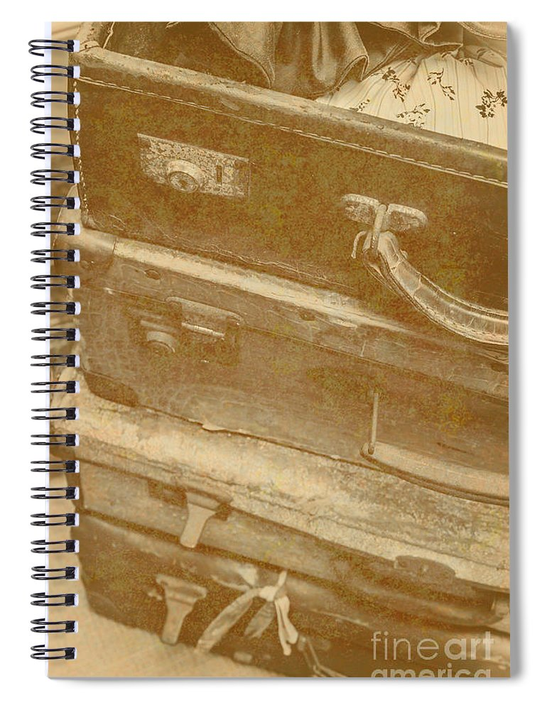 Travel Spiral Notebook featuring the photograph Vintage Travel Stack by Jorgo Photography - Wall Art Gallery