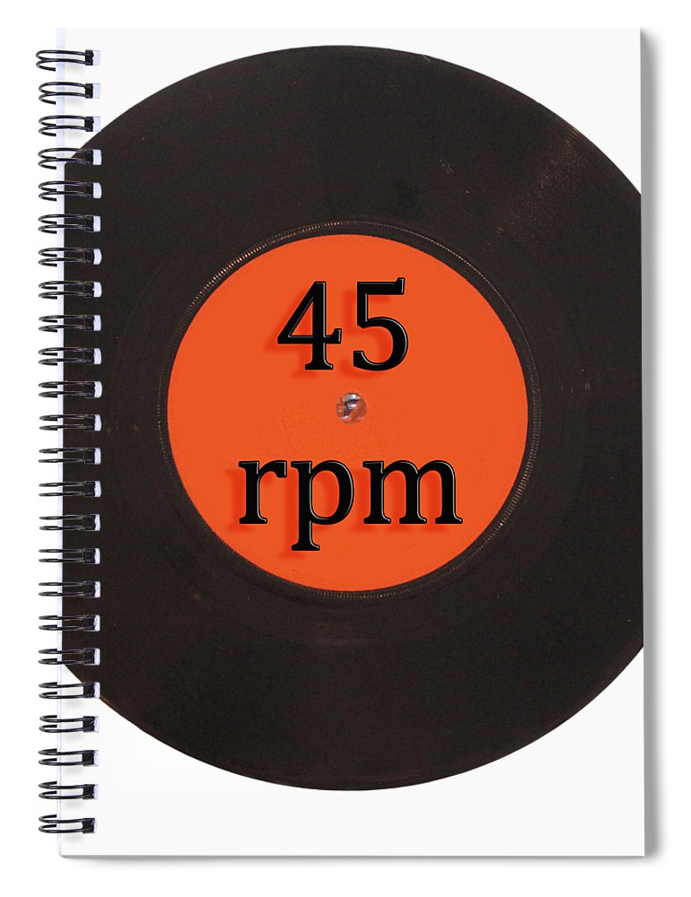 Vintage Spiral Notebook featuring the digital art Vinyl record vintage 45 rpm single by Tom Conway