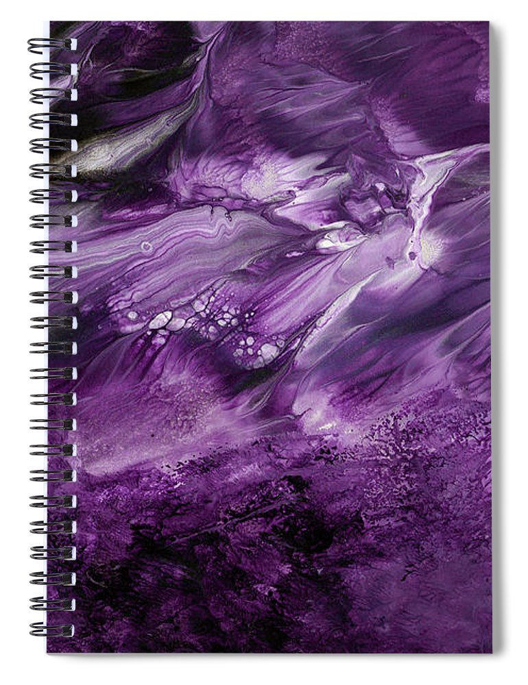 Ultra Violet Art Spiral Notebook featuring the painting Violet Rhapsody- Art By Linda Woods by Linda Woods