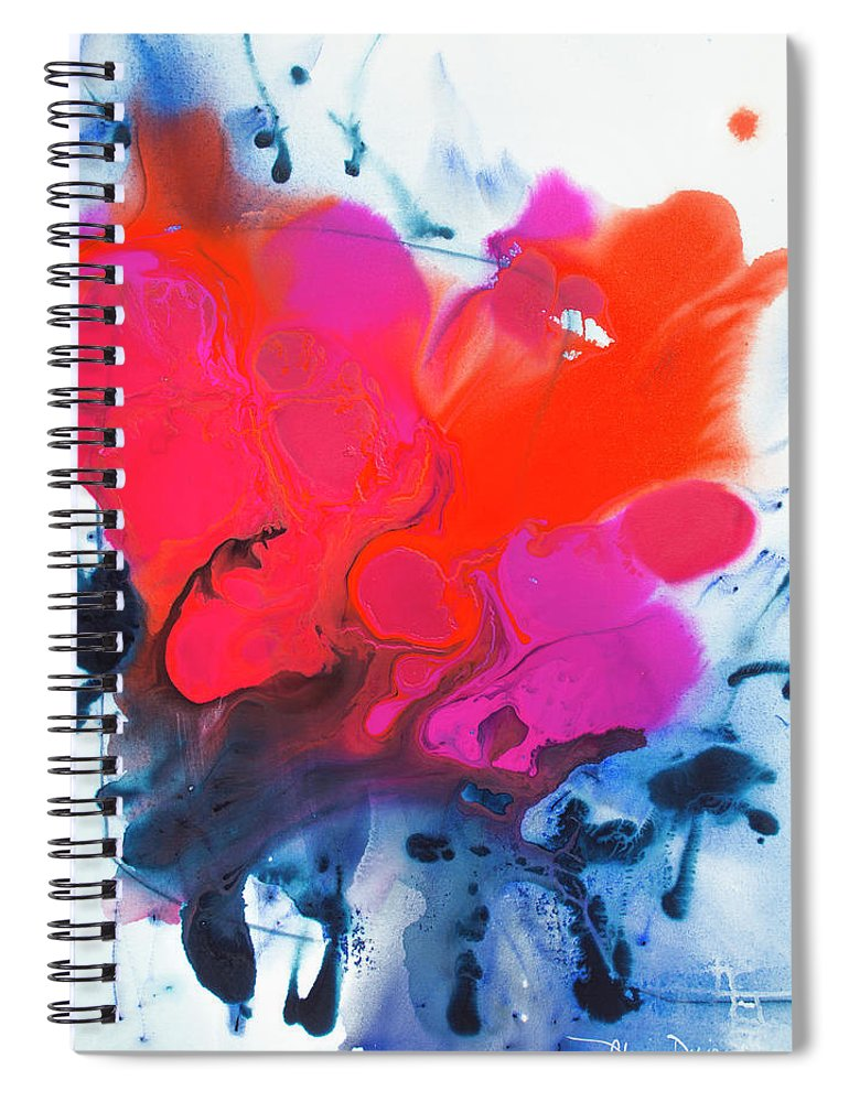 Abstract Spiral Notebook featuring the painting Voice by Claire Desjardins