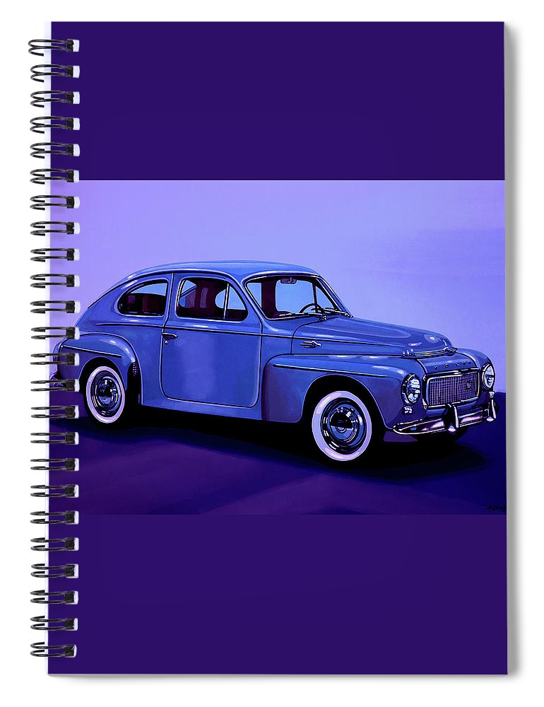 Volvo Pv544 Spiral Notebook featuring the mixed media Volvo Pv 544 1958 Mixed Media by Paul Meijering