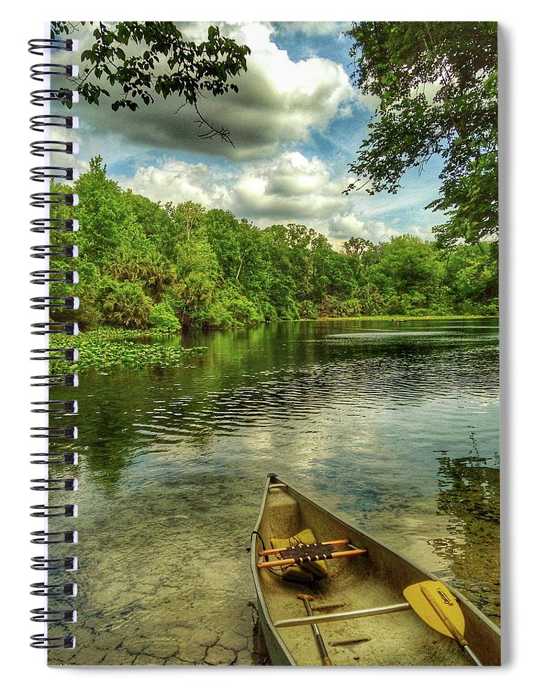 Florida Spiral Notebook featuring the digital art Wakiva Springs by Scott Waters