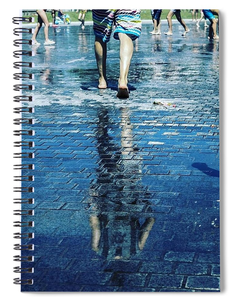 Man Spiral Notebook featuring the photograph Walking on the water by Nerea Berdonces Albareda