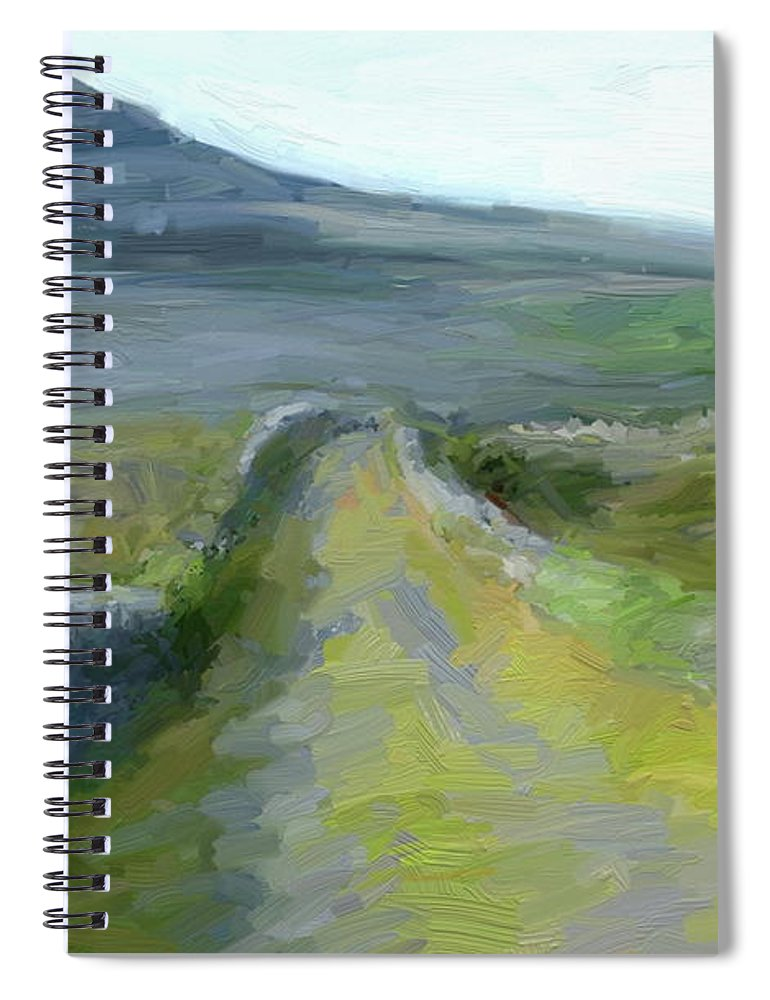 County Clare Spiral Notebook featuring the digital art Walking the Burren by Scott Waters