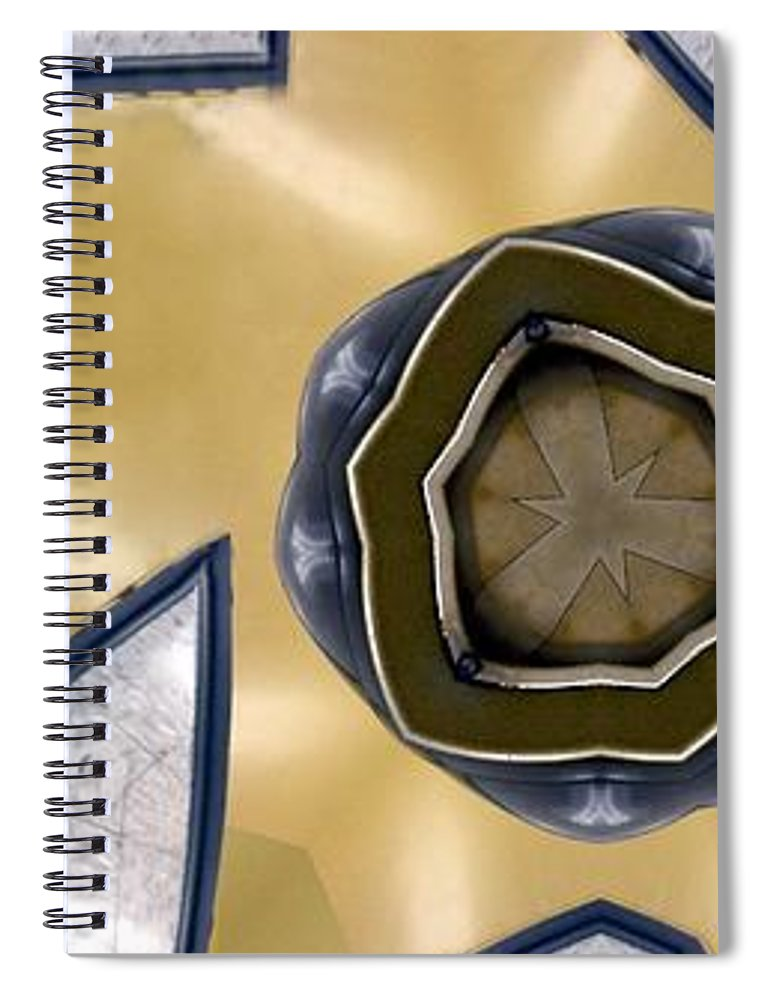 Abstract Spiral Notebook featuring the digital art Wall Piece by Ron Bissett