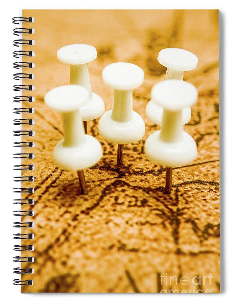 War Spiral Notebook featuring the photograph War Game Tactics by Jorgo Photography - Wall Art Gallery