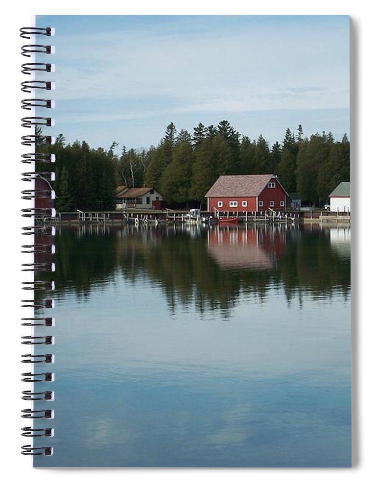 Washington Island Spiral Notebook featuring the photograph Washington Island Harbor 5 by Anita Burgermeister