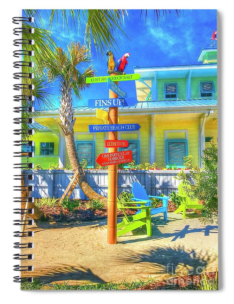 Beachy Spiral Notebook featuring the photograph Wastin Away by Debbi Granruth