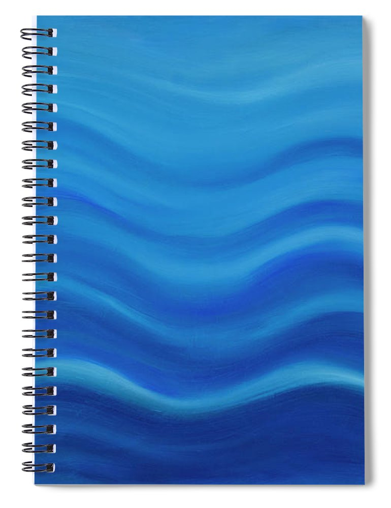 Water Spiral Notebook featuring the painting Water by Adamantini Feng shui