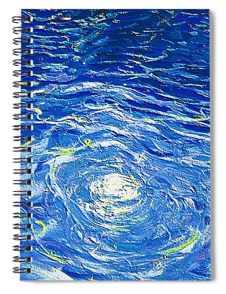 Pool Spiral Notebook featuring the mixed media Water In The Pool by Dragica Micki Fortuna