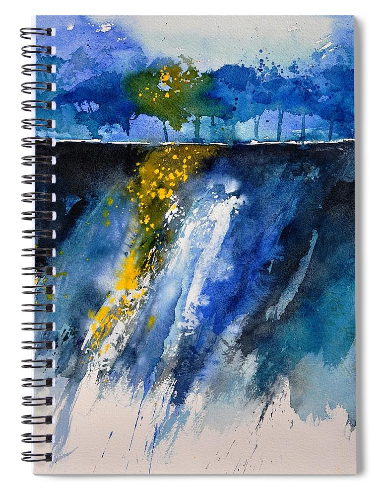 Abstract Spiral Notebook featuring the painting Watercolor 119001 by Pol Ledent
