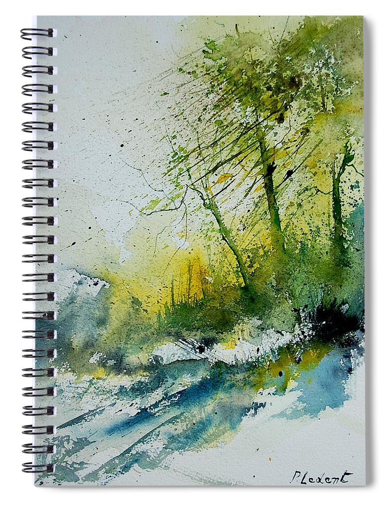 River Spiral Notebook featuring the painting Watercolor 181207 by Pol Ledent