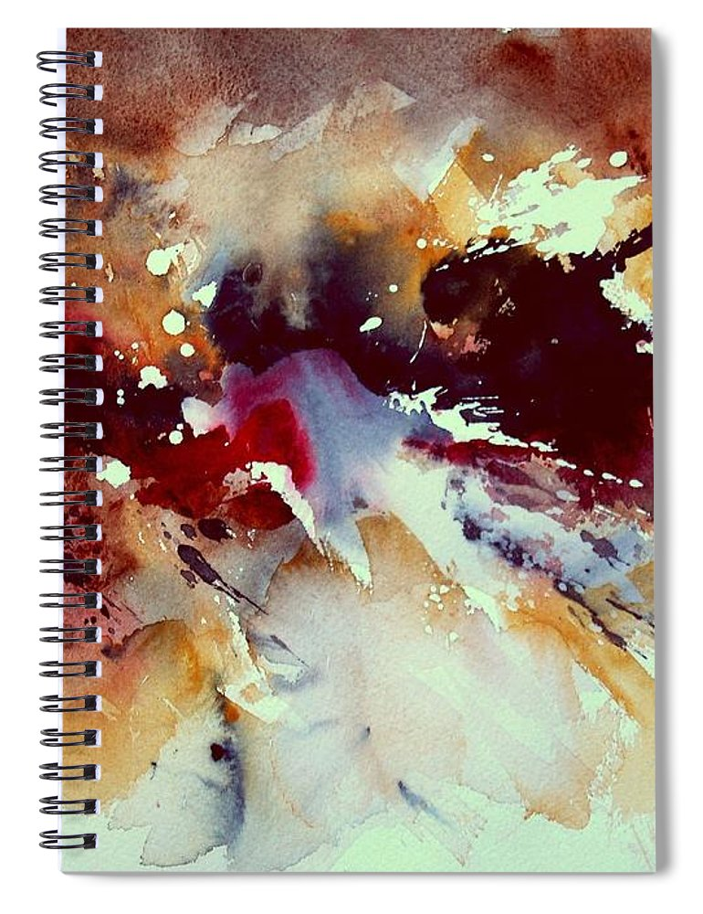 Abstract Spiral Notebook featuring the painting Watercolor 301107 by Pol Ledent