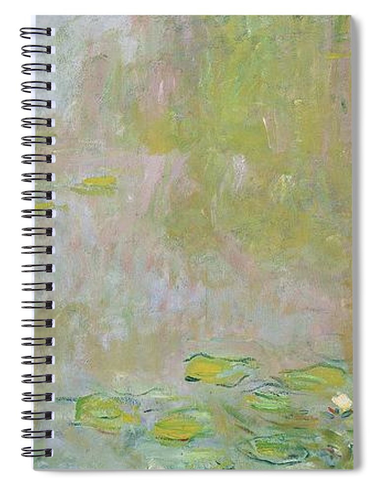 Waterlilies At Giverny Spiral Notebook featuring the painting Waterlilies at Giverny by Claude Monet