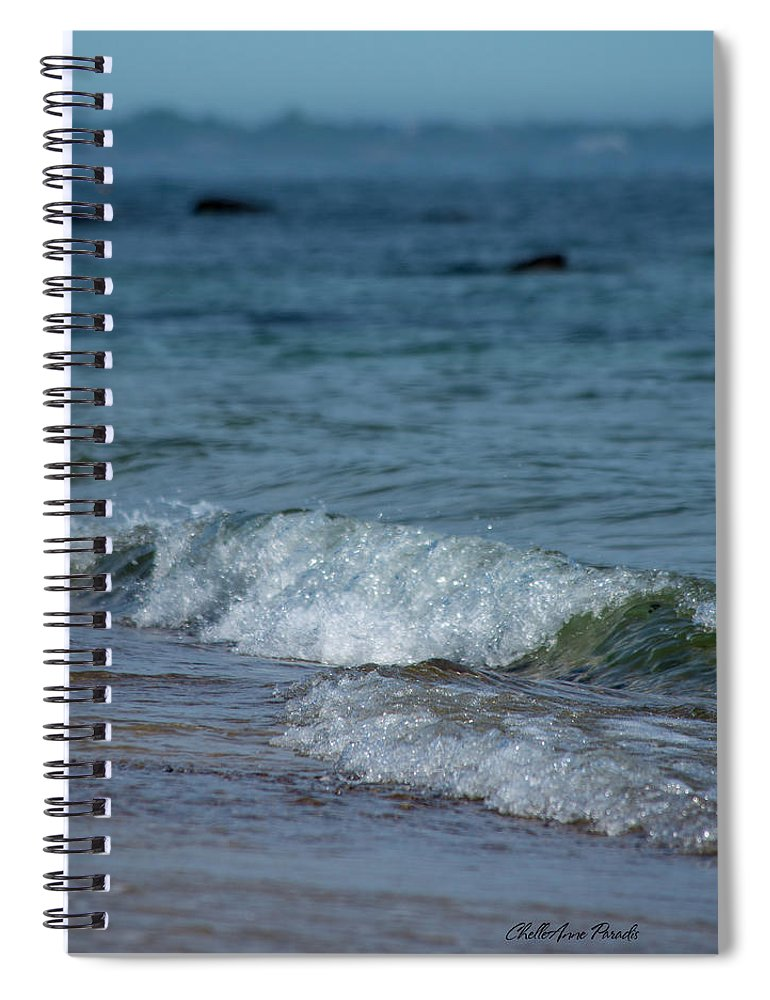 Waves Spiral Notebook featuring the photograph Waves by ChelleAnne Paradis