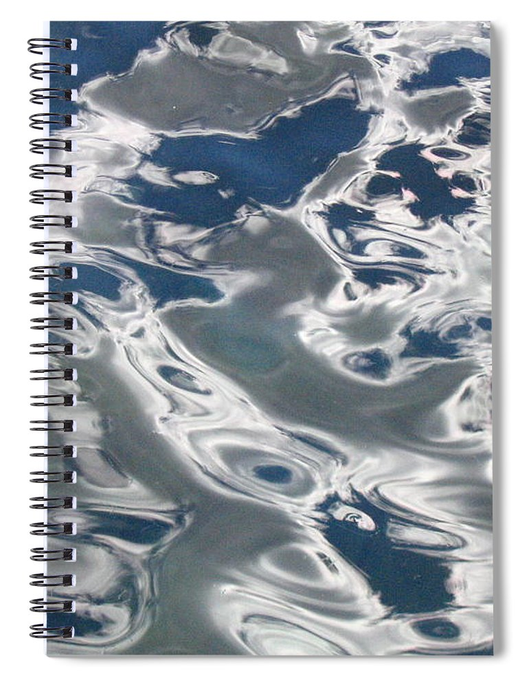 Water Spiral Notebook featuring the photograph wavy Water by Devorah Shoshanna