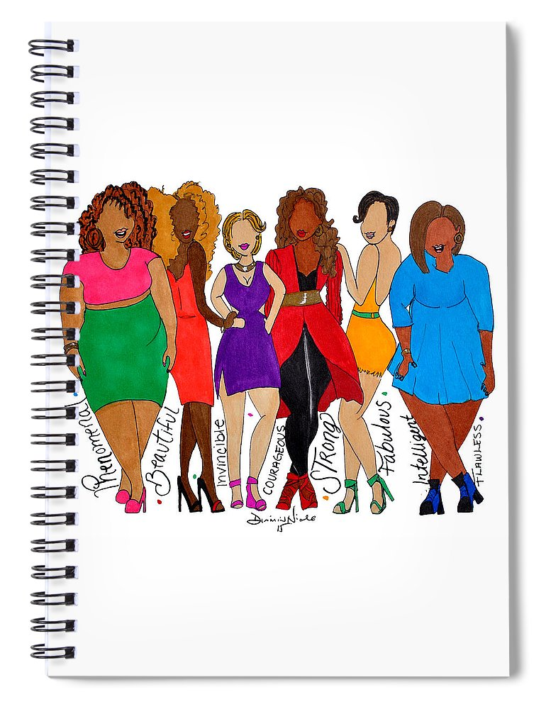 Body Image Spiral Notebook featuring the photograph We Are by Diamin Nicole