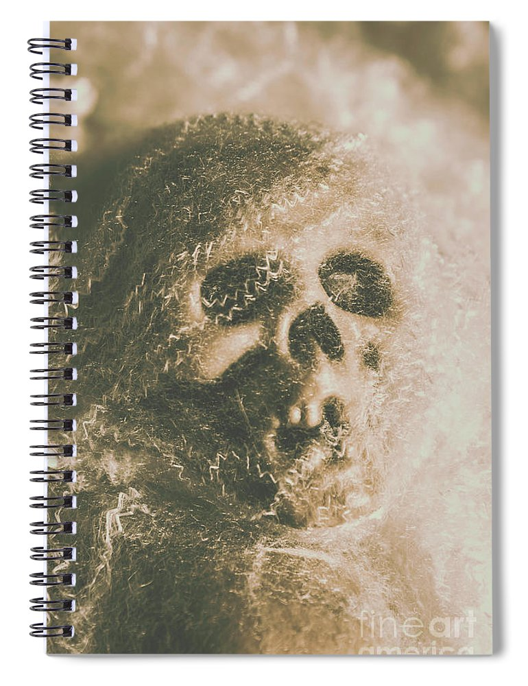 Bone Spiral Notebook featuring the photograph Webs And Dead Heads by Jorgo Photography - Wall Art Gallery