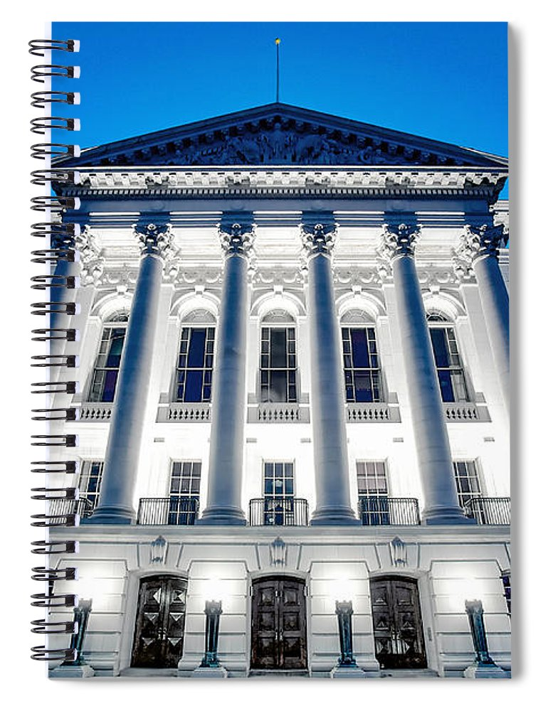 Architecture Spiral Notebook featuring the photograph West Wing by Todd Klassy