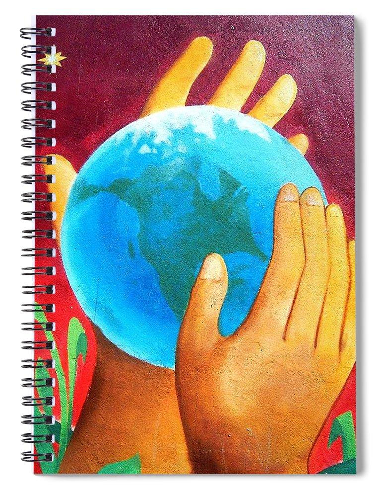 Wonderful Spiral Notebook featuring the photograph What a Wonderful World ... by Juergen Weiss