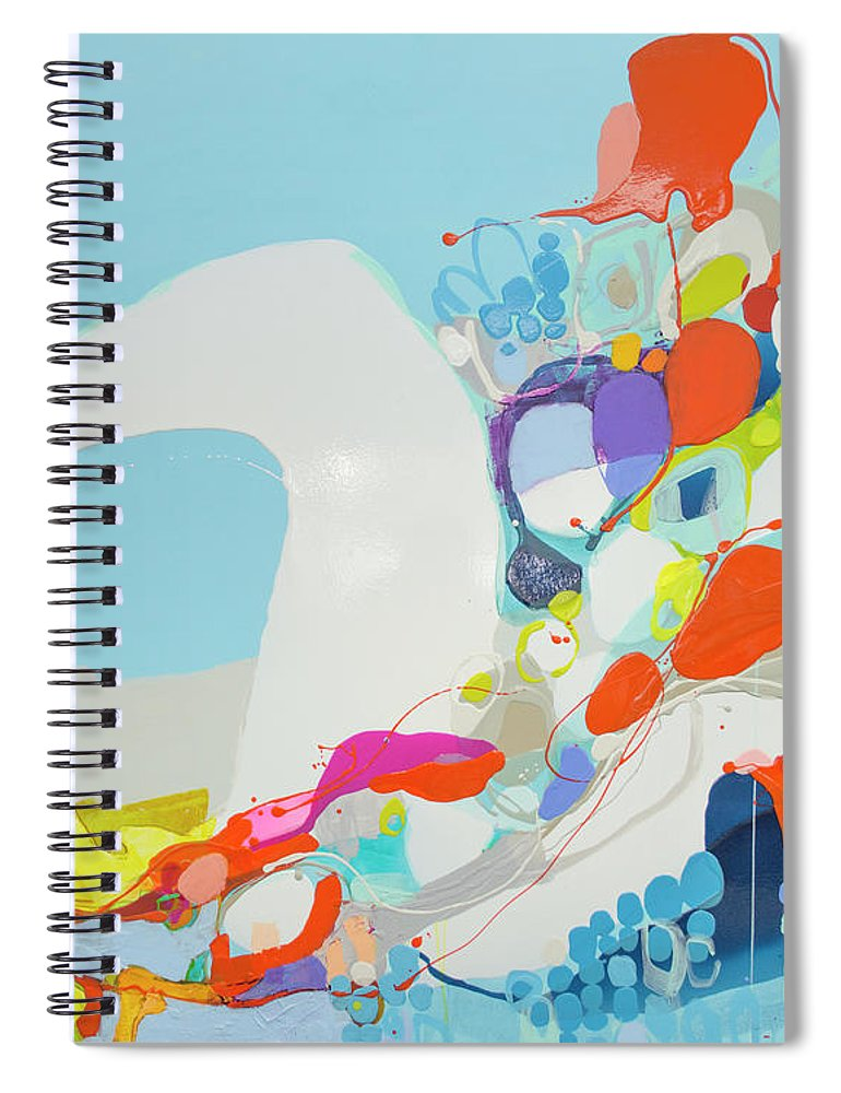Abstract Spiral Notebook featuring the painting When Alexa Moved In by Claire Desjardins