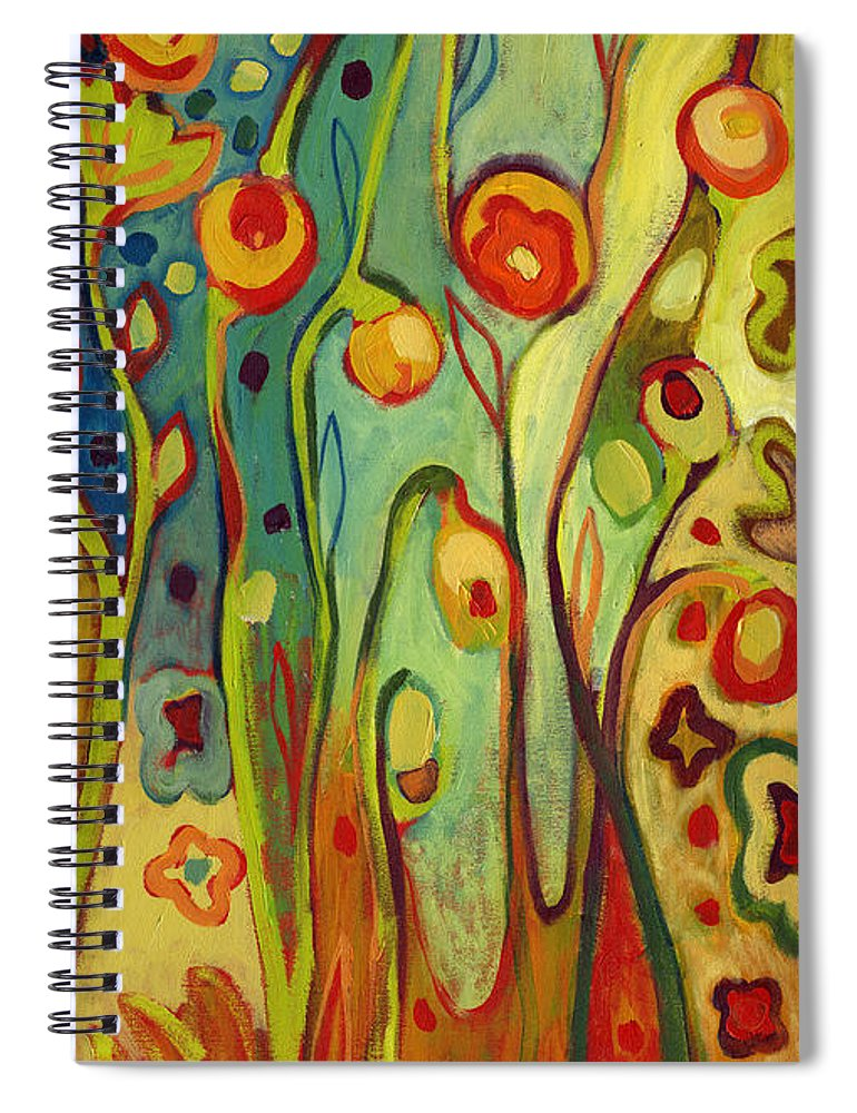 Floral Spiral Notebook featuring the painting Where Does Your Garden Grow by Jennifer Lommers