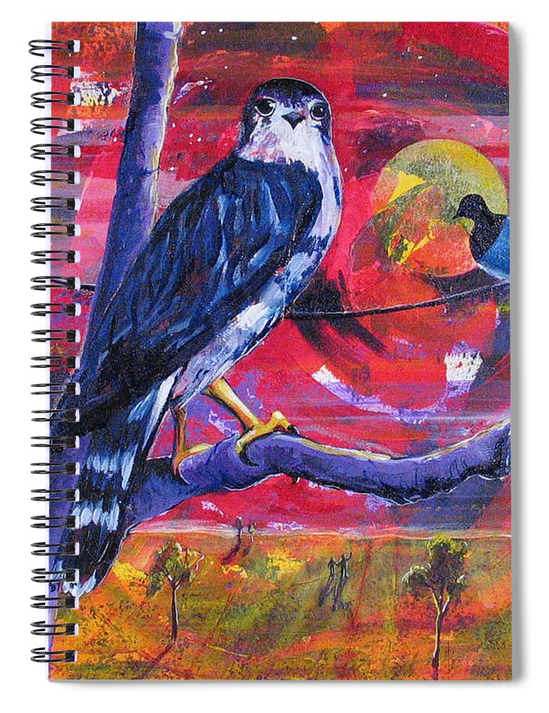 War Spiral Notebook featuring the painting Where Is Love by Rollin Kocsis