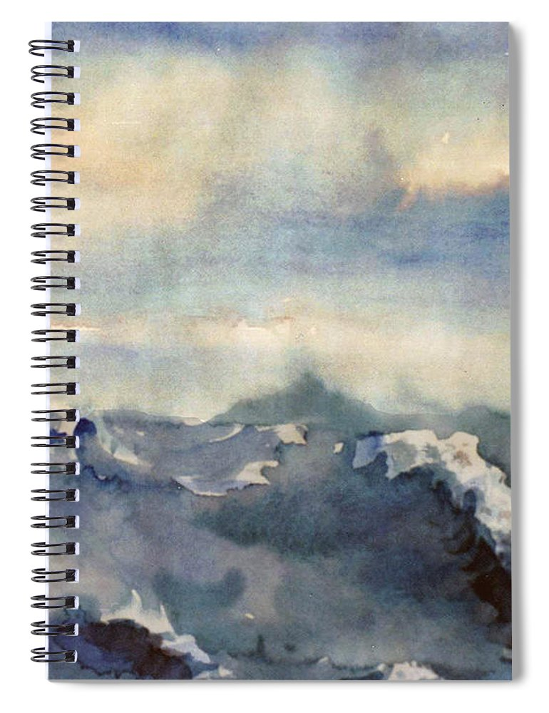 Seascape Spiral Notebook featuring the painting Where Sky Meets Ocean by Steve Karol