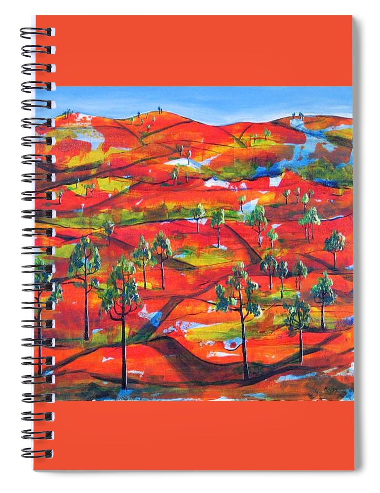 Landscape Spiral Notebook featuring the painting Where The Road Goes   by Rollin Kocsis