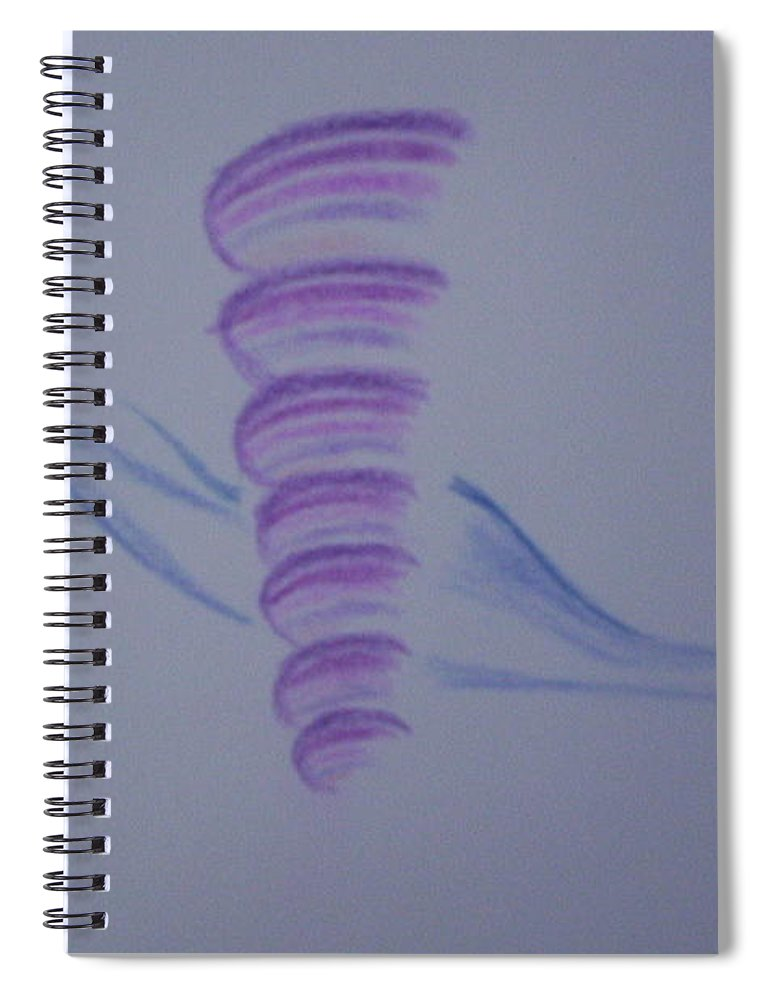 Abstract Drawing Spiral Notebook featuring the painting Whirly by Suzanne Udell Levinger