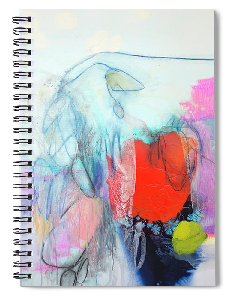 Abstract Spiral Notebook featuring the painting Whisper by Claire Desjardins