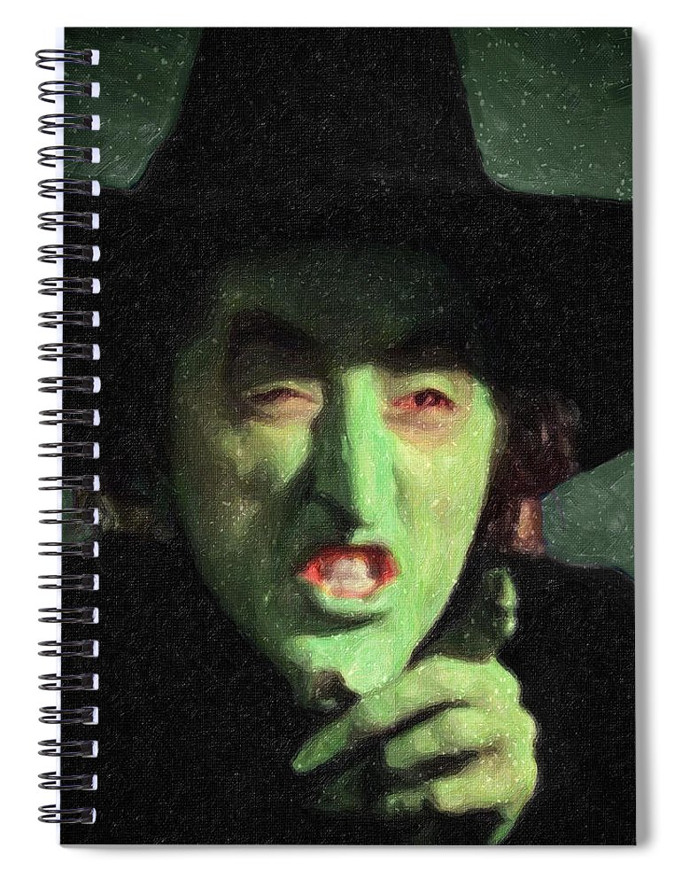 Wicked Witch Of The East Spiral Notebook featuring the painting Wicked Witch Of The East by Zapista Zapista