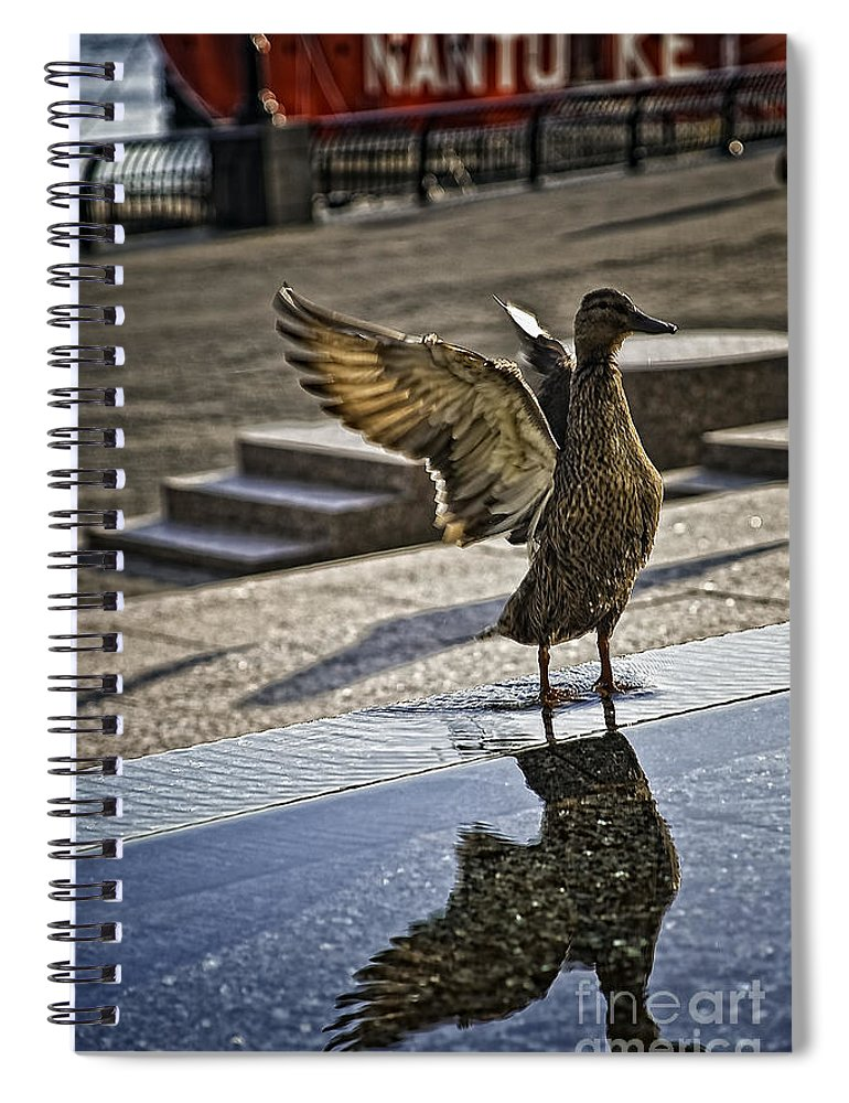 Bird Spiral Notebook featuring the photograph Winged Bird by Madeline Ellis