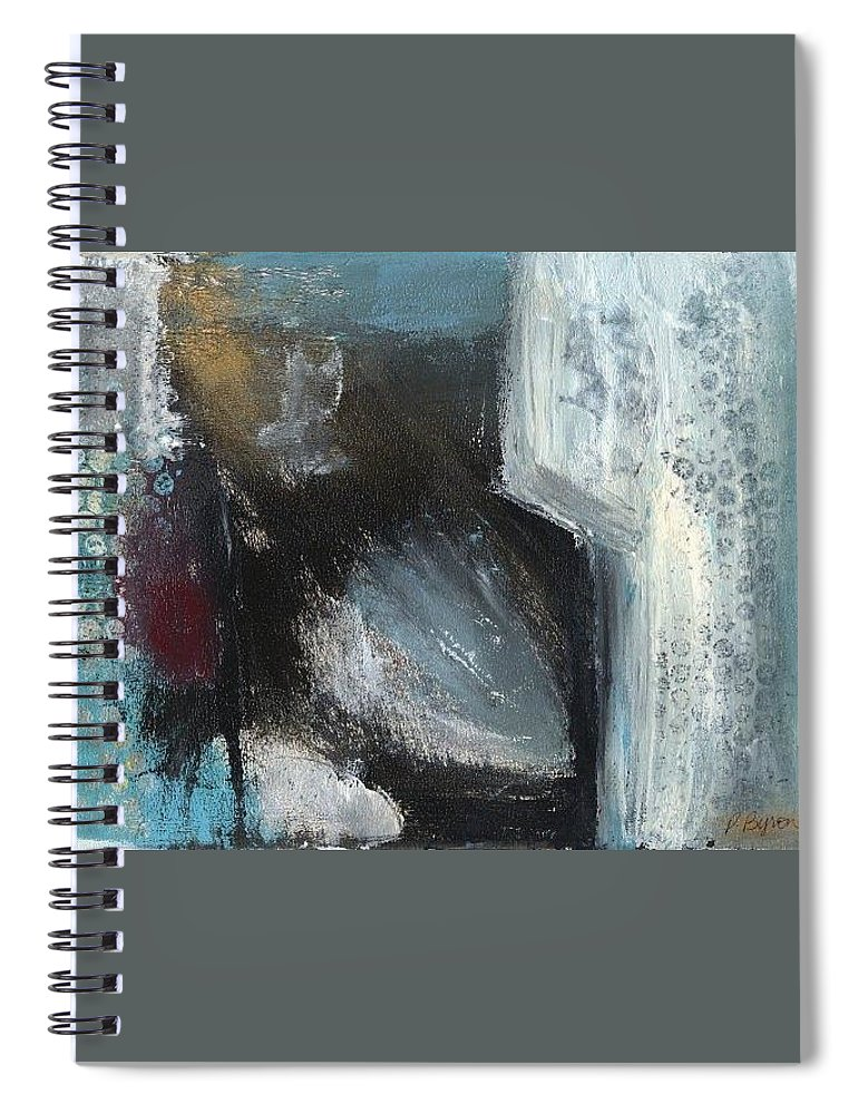 Abstract Spiral Notebook featuring the painting Winter of the Heart 1 by Patricia Byron