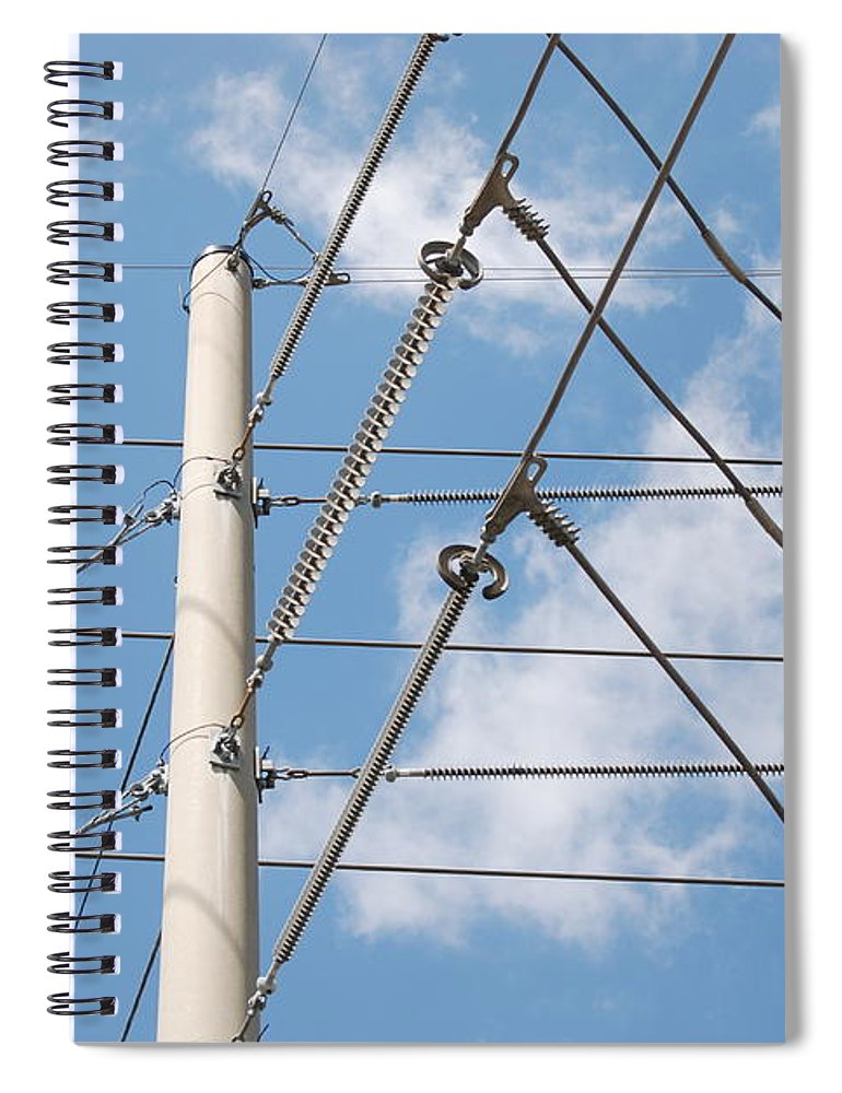 Sky Spiral Notebook featuring the photograph Wired Sky by Rob Hans