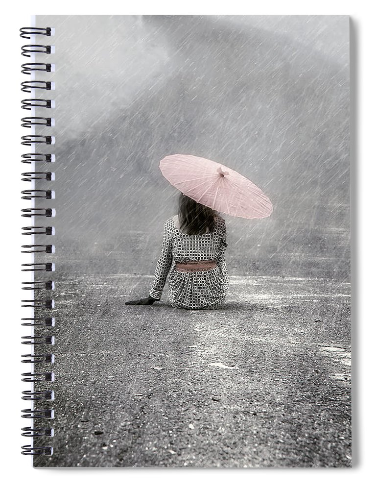 Woman Spiral Notebook featuring the photograph Woman On The Street by Joana Kruse