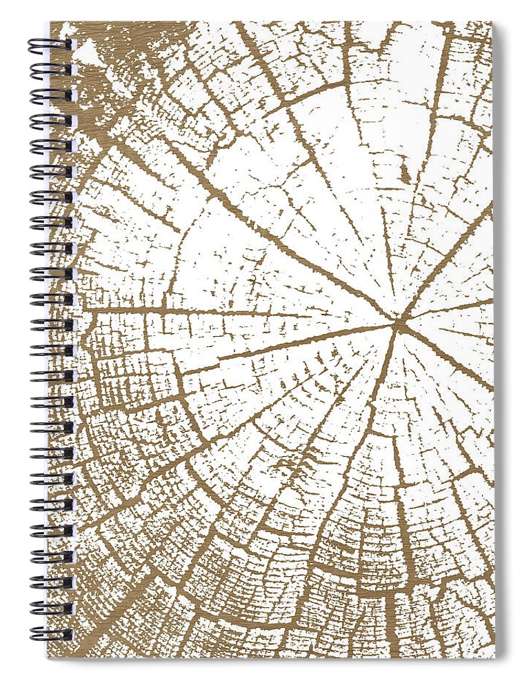 Tree Spiral Notebook featuring the mixed media Wood And White- Art By Linda Woods by Linda Woods